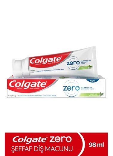 Colgate Colgate Zero Spear Doğal Nane Aromalı Şeffaf Diş Macunu 98 Ml Renksiz